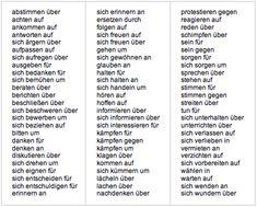 Deutsch lernen mit Mnemotechniken für DaF (Deutsch als Fremdsprache) Study German, German English, Learn German, Verben Mit Akkusativ, German Resources, German Grammar, German Language Learning, Prefixes, Prepositions