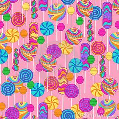 Lollipops Candy Repeat Pattern