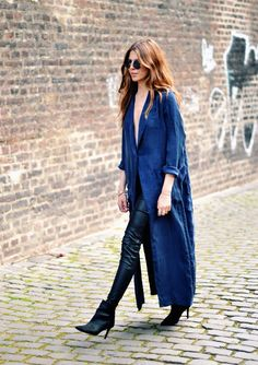 Boho Street Style Inspiration: Long Duster Jacket Fall Look #johnnywas