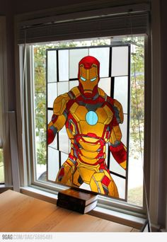 For the classy nerd, who likes both iron man and stained glass windows and stuff.