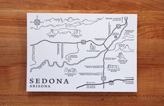 Letterpress Map from Pounding Mill Press  in Oakland, CA