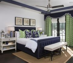 Get inspired by Coastal Bedroom Design photo by AGK Design Studio. Wayfair lets you find the designer products in the photo and get ideas from thousands of other Coastal Bedroom Design photos. Beach House Bedroom, Beach House Decor, Home Decor Bedroom, Awesome Bedrooms, Beautiful Bedrooms, Guest Bedrooms, Bedroom Sets, H Design, House Design