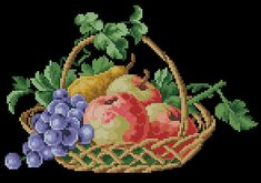 Floral fruit apples berlin woolwork cross stitch pattern Basket with fruits Digital Format PDF Vintage victorian retro needlework chart Cross Stitch Fruit, Cross Stitch Alphabet, Cross Stitch Embroidery, Cross Stitch Patterns, Roses And Violets, Two Roses, Needlepoint Patterns, Embroidery Patterns, Vintage Cross Stitches
