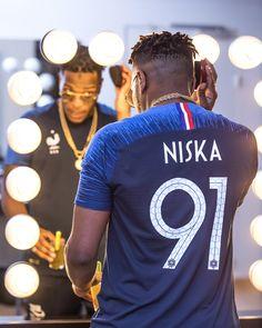 Niska Reveals France 2018 World Cup Nike Home Shirt - SoccerBible World Cup Shirts, World Cup Jerseys, Real Madrid, Nfl, Football Birthday, Sports Uniforms, Madly In Love, Fifa World Cup, Kobe