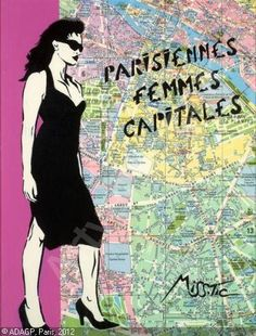 -MissTic-  'Parisiennes Femmes Capitales' Murals Street Art, Street Art Graffiti, Deco Paris, Doodle Inspiration, Land Art, Street Artists, Public Art, Oeuvre D'art, Urban Art
