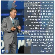 The key to your success as a Market America UnFranchise Owner! #JimWinkler