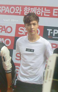 EXO || Spao Event in Myeondong (150711) || Zhang Yixing