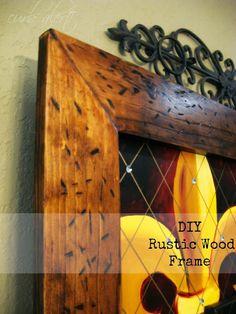 Curb Alert!: DIY Rustic Wood Frame