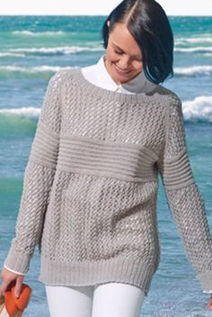 Breezy knit pullover | Free Knitting Pattern
