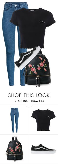 """simpl"" by thefashionguilty on Polyvore featuring H&M, Topshop, Urban Expressions and Vans"