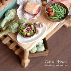 Fig fruits and salad in a bowl-12th scale miniature food | Flickr - Photo…