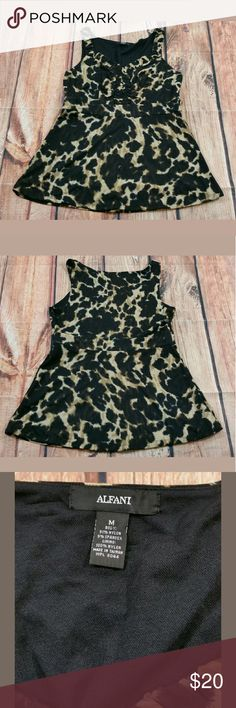 """Alfani Animal Print Sleeveless Top Size Medium Alfani Animal Print Sleeveless Top Size Medium  Measurements: Bust (Pit to Pit):  17.5"""" Length: 26.5""""  Condition:  Great Pre-Owned Condition from clean smoke/pet free home. Alfani Tops Tank Tops"""