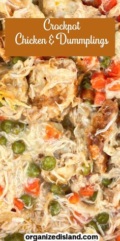 If you're craving hearty and comfort, this Crockpot Chicken and Dumplings recipe is perfect. What better way to kick up your feet and relax!