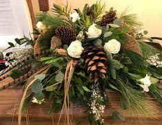 Casket Flowers, Funeral Flowers, Silk Flowers, Colorful Flowers, Funeral Floral Arrangements, Flower Arrangements, Casket Sprays, Hunting Wreath, Funeral Sprays