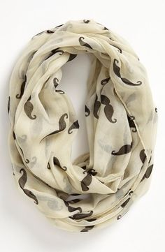 'Mustache' Infinity Scarf  Why is this not in my life...