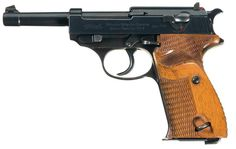 """Rare Documented Early Production Walther Commercial Model HP with Unique """"P-38"""" Slide Markings Serial Number 1023 in 7.65 MM Luger Auto Caliber"""