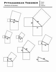 36 beste ideeën over 3de ljr stelling van pythagoras