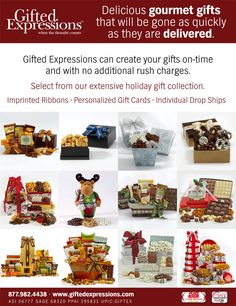 Delicious Gourmet Gifts  No Rush Charge!