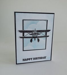 This airplane birthday card is great for the boys or even the men in the family.  Having all boys I always try to come up with some fun masculine cards to make for their birthdays.