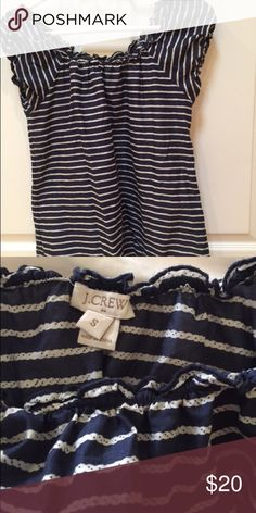 Jcrew stripe top This nautical jcrew top is in great condition! J. Crew Tops Tees - Short Sleeve