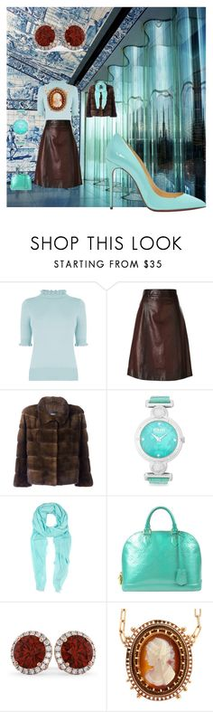 """blue shoe"" by matan-sowatskey on Polyvore featuring Christian Louboutin, Oasis, Prada, Arma, Versus, Furla, Louis Vuitton and Allurez"