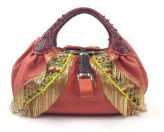 Fendi Multicolor Beaded Spy Orange Tote Bag $3,060