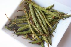 Crispy Green Baked Green Bean Fries by delightedmomma #Green_Beans #delightedmomma