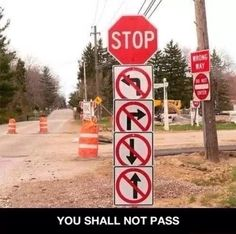 Pass u shall NOT.