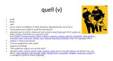quell meaning #gre #cat #vocabulary