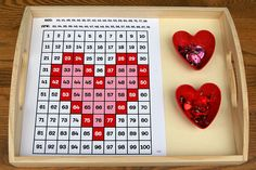 100 board activity (number recognition)