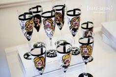 Custom hen glasses