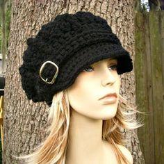 Crochet Hat Pattern Womens Hat Mens Hat How To Crochet | Etsy Crochet Motifs, Easy Crochet Patterns, Crochet Designs, Hand Crochet, Knit Crochet, Knitting Patterns, Crochet Hood, Patron Crochet, Slippers Crochet