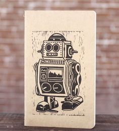 Mr. Robot Block Print Moleskine Notebook (Large). $14.00, via Etsy.