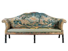 George III Sofa with Embroidered Upholstery, English, ca. 1765-1775.