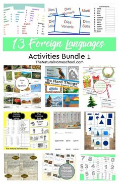 13 Foreign Languages Activities ~ Bundle 1 - The Natural Homeschool