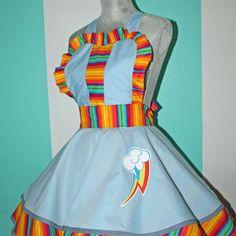 Rainbow Dash MLP Cosplay Pinafore My Little Pony Dress Accessory My Little Pony Dress, My Little Pony Unicorn, My Little Pony Party, Apron Dress, Dress Up, Rainbow Party Decorations, Little Poney, Rainbow Dash, Equestria Girls