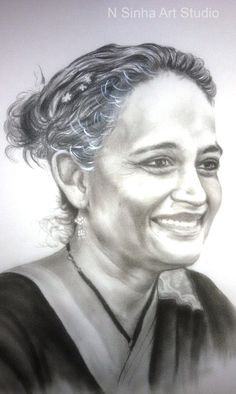 Drybrush Pencil Sketch & Portrait Artist in Delhi NCR Pencil Sketch Portrait, Portrait Sketches, Professional Portrait, Best Portraits, Delhi Ncr, Dry Brushing, Charcoal, Oil, Statue