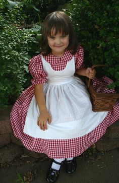 Little RED RIDING HOOD Dress/Costume Set Custom Child Size. $114.99, via Etsy.
