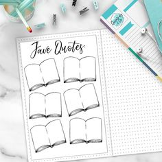 Favorite Quotes Bullet Journal Layout Note Page Sticker Set Bullet Journal Inspo, Bullet Journal Quotes, Bullet Journal 2019, Bullet Journal Layout, My Journal, Journal Covers, Journal Pages, Journal Ideas, Bullet Journals