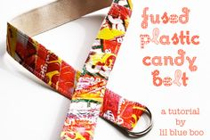 Fused Plastic Patchwork Belt (A Tutorial) via lilblueboo.com