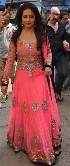 Madhuri wearing Manish Malhotra