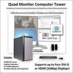 SUPER PC   Quad Monitor Workstation   3.6Ghz Intel Core i7 Quadcore   16GB of DDR3   480GB SSD   2GB GDDR5 R9 270X [256-bit] Graphics SUPER PC http://www.amazon.com/dp/B011HUIW4W/ref=cm_sw_r_pi_dp_k2n9vb0WJ8FST