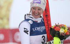 Kirchi hat gut lachen: Zweite Medaille für Österreich bei der alpinen Ski-WM in St. Moritz: Die Salzburgerin Michaela Kirchgasser holte am Freitag Bronze in der Kombination. Mehr Bilder des Tages: http://www.nachrichten.at/nachrichten/bilder_des_tages/ (Bild: gepa)