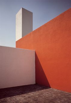 Rene Burri MEXICO. Mexico City. Tacubaya. House of Mexican architect Luis BARRAGAN. Roof terrace. 1969.