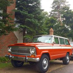 Jeep Wagoneer Pretty cool old SUV. Wouldn't mind one myself.