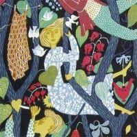 swedish textiles, vintage swedish fabric, mid century fabric