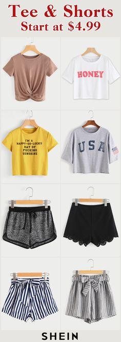 Tee & Shorts Start at $4.99!
