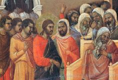 Christ before Caiaphas (Fragment) by @artbuoninsegna #protorenaissance