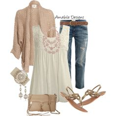 Casual Spring by amabiledesigns, via Polyvore