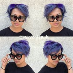 Purple base with lavender and light blue tones • by Master Stylist, Eddie, at Carlton Hair Montclair • 909-398-1939 @Scixxorhands